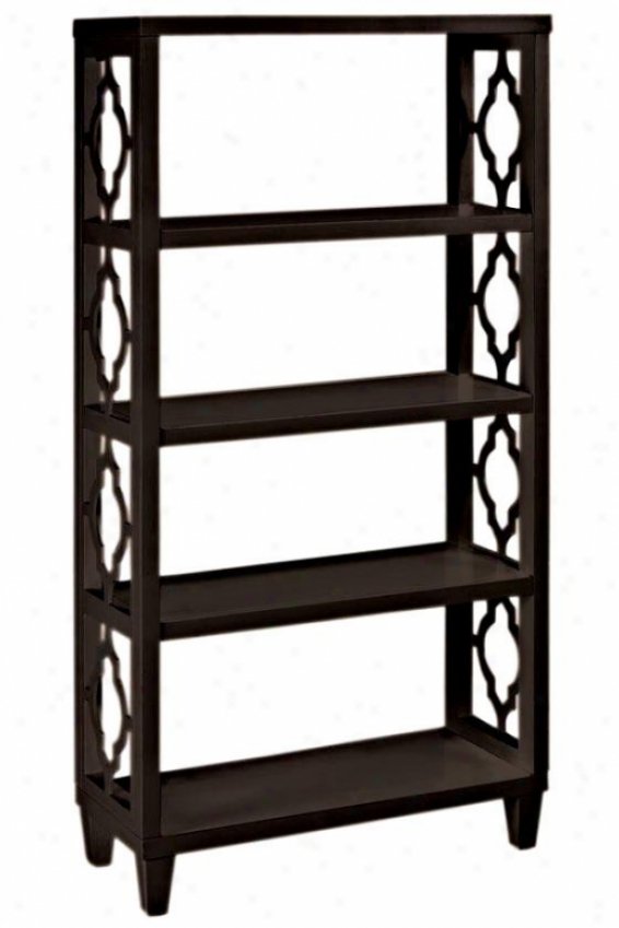 """reflections Storage Shelf - 56""""hx28""""w, Coffee Brown"""