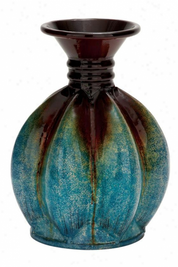 """regan Vase - 12""""hx10""""w, Ocean Green"""