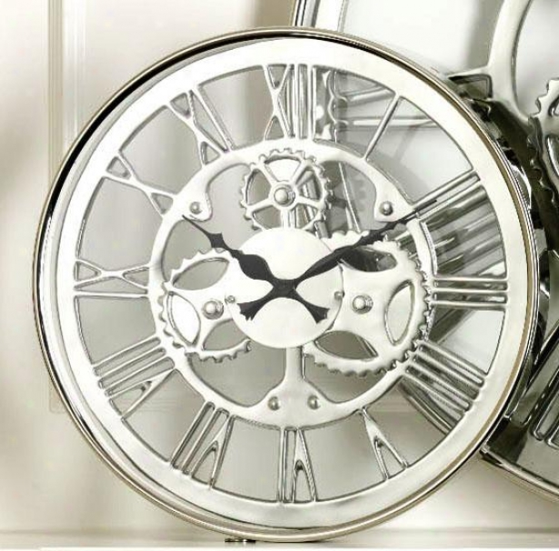 """regatta Wall Clock - 14h X 2""""w, White"""