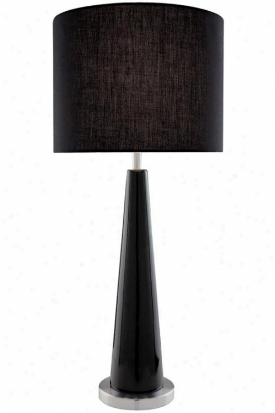 """rekha Table Lamp - 27""""hx12""""d, Black"""
