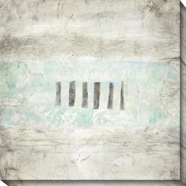 Relati\/ely Blue I Canvas Wall Art - I, White