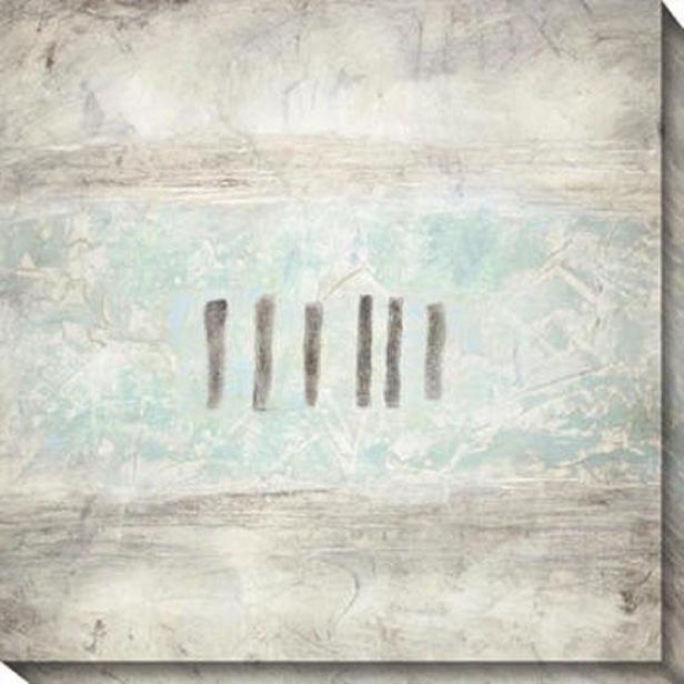 Relatively Blue Ii Canvas Wall Art - Ii, White