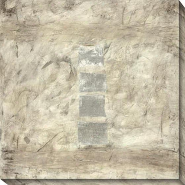 Relatively Silver I Canvas Waall Art - I, Gray