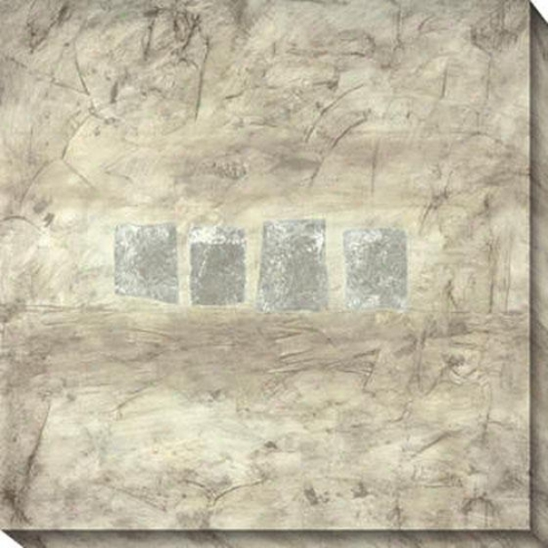 Relatively Silver Ii Canvas Wall Art - Ii, Gray