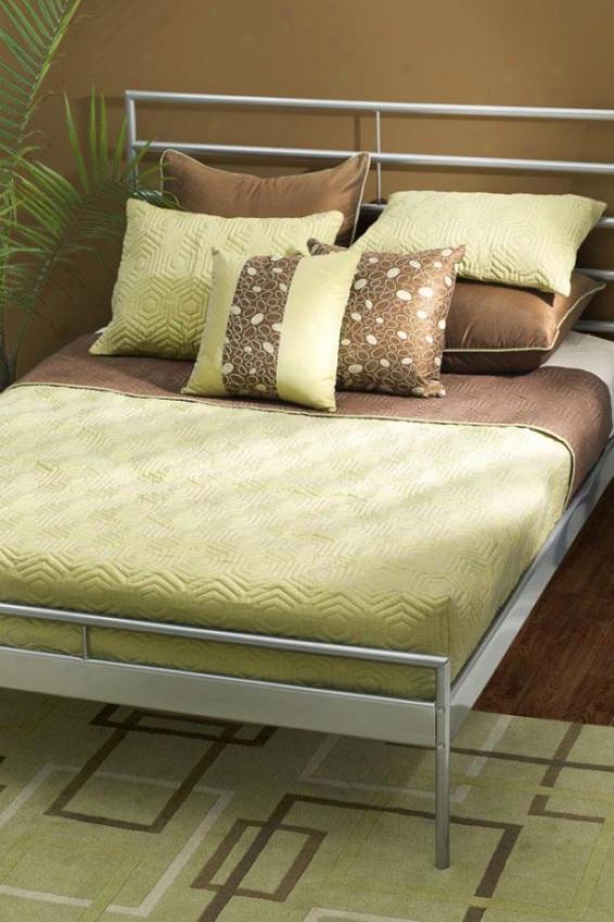 Remey Bedding Set - Twin, Sage Green/brow