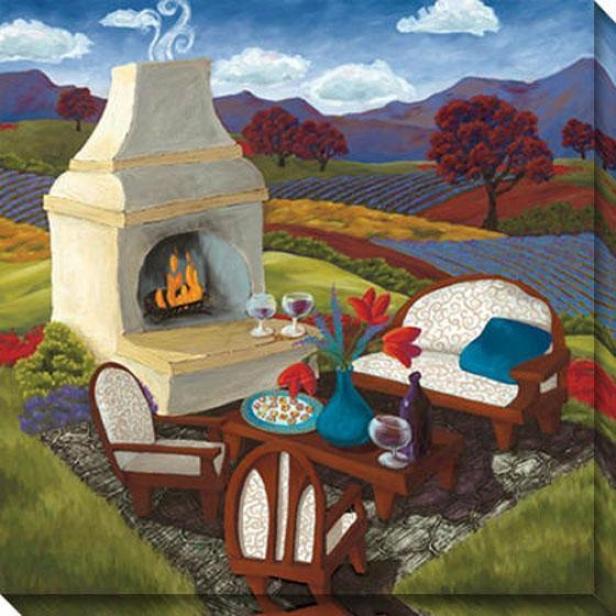 """remnants Of The Sunshine Canvas Wall Art - 40""""hx40""""w, Multi"""