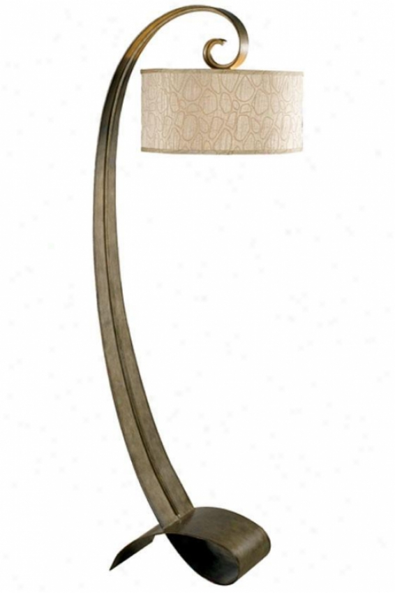 Remy Floor Lamp - Taupe Drum, Bronze