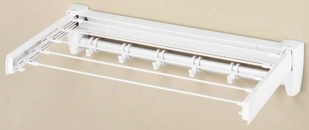 """retractable Drying Rack - 5""""hx25""wx13""""d, White"""