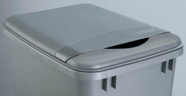 Rev-a-shelf 35-quart Waste Container Lid - 2h X 19.5w X 14, Silver