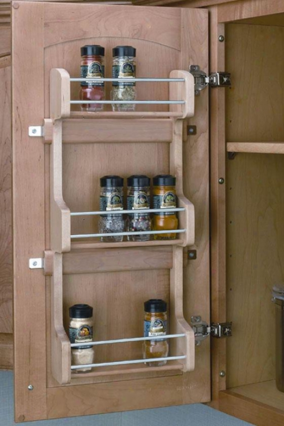 """rev-a-shelf Adjustable Door Mount Spice Rack - 25h X 10w X 4""""d, Ivory"""