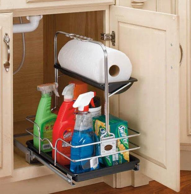 """""""rev-a-shelf Removable Under Sink Caddy - 19.5h X11w X16"""""""", Silver"""""""