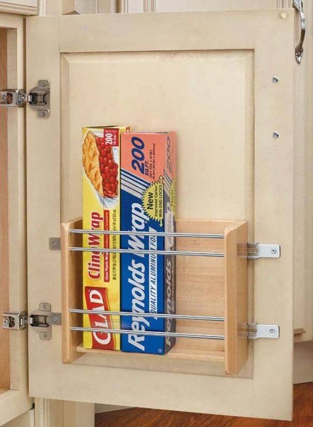 """rev-a-syelf Small Door Mount Foil Rack - 8h X 10w X 4""""d, Ivory"""