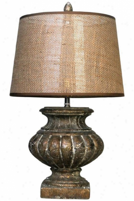 """rhea Table Lamp - 24""""hx13""""d, Brown"""