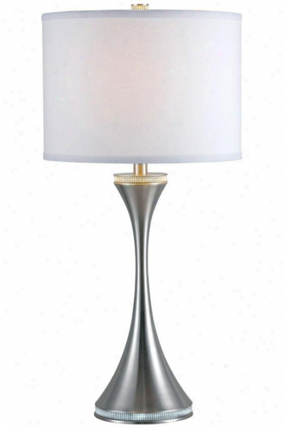 """rhinestone Table Lamp - 29""""h, Grey Steel"""