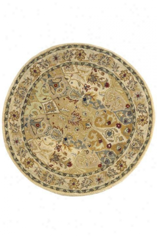 """rhodes Area Rug - 3'9"""" Round, Ivpry"""