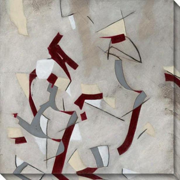 Ribbon I Canvas Wall Art - I, Black