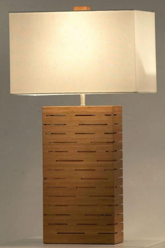 """rift Standing Table Lamp - 28""""hx16""""wx9""""d, Brown"""
