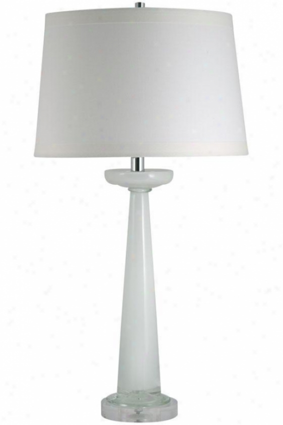 """riley Tabld Lamp - 32""""hx5.5""""w, Wuite"""