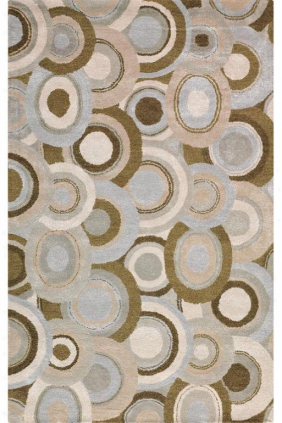 """ringlet Area Rug - 5'9"""" Round, Oyster"""""