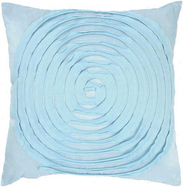 """rings Pillow - 18""""x18"""", Blue"""