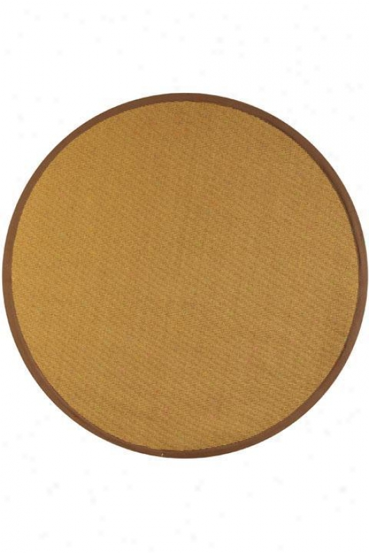 Rio Sisal Superficial contents Rug - 6' Round, Tan