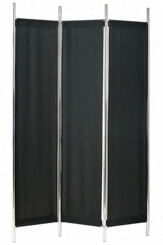 """rita Folding Screen - 72""hx48""""w, Black"""