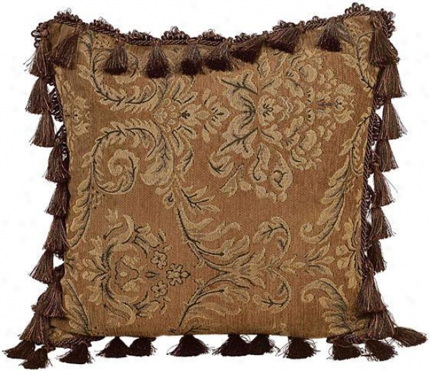 """rita Pillow - 18"""" Square, Brown"""