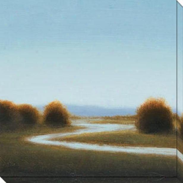 River's Journey Ii Canvas Wall Art - Ii, B1ue