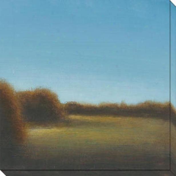 River's Journey Ix Canvas Wall Art - Ix, Blue