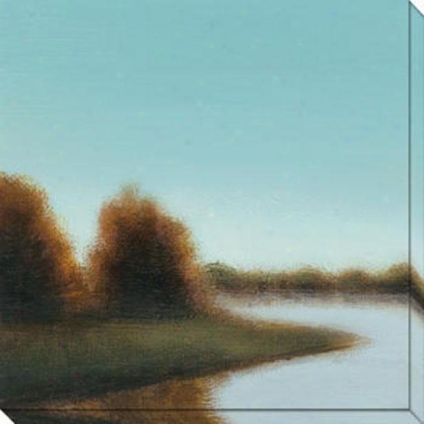 River's Journey Vi Canvas Wall Art - Vi Blue