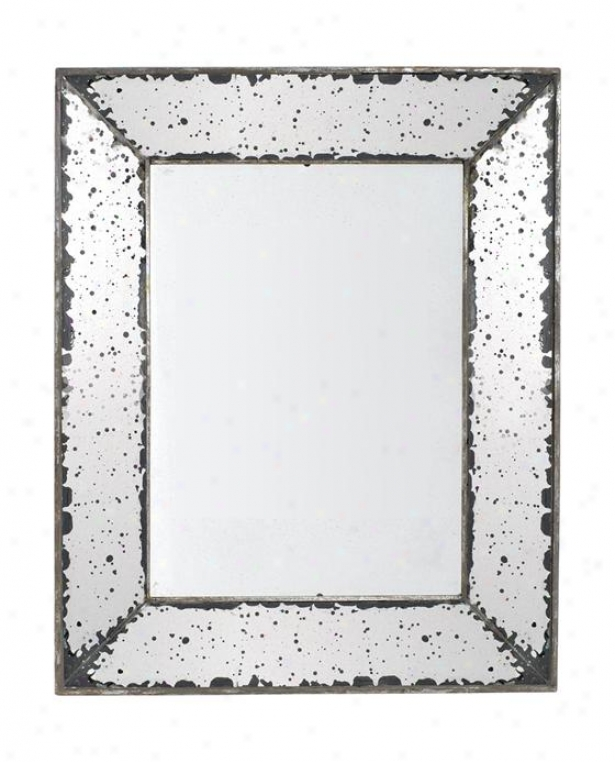 """roberto Mirror - Small 9.5""""x12"""", Antiqued Mirror"""