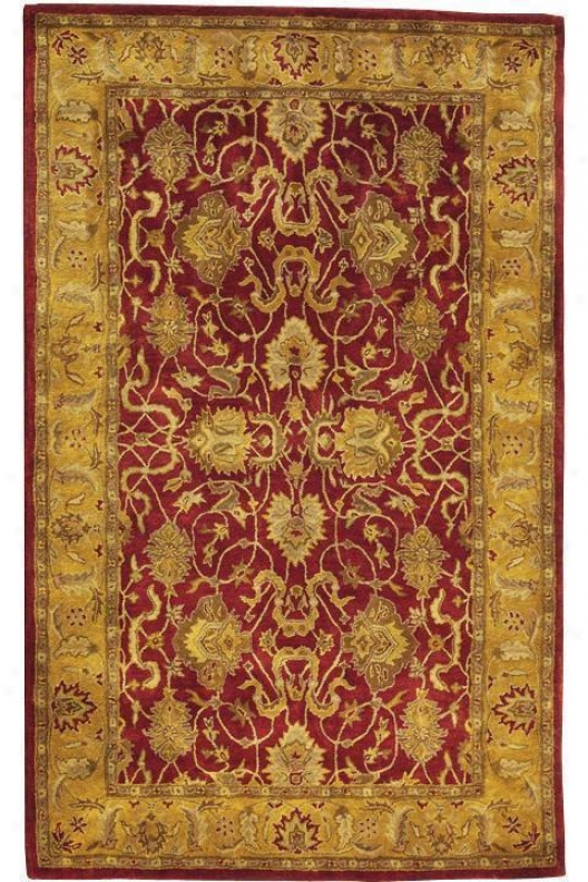 Rochelle I Area Rug - 9'x13', Red