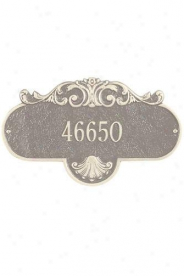 Rochelle One-line Estate Wall Address Plaque - Estate/one Line, Beige