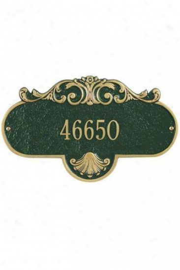Rochelle One-line Standard Wall Address Plaque - Standard/1 Line, Green