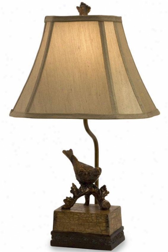"""rochester Bird Lamp - 21""""hx12""""w, Bronze"""