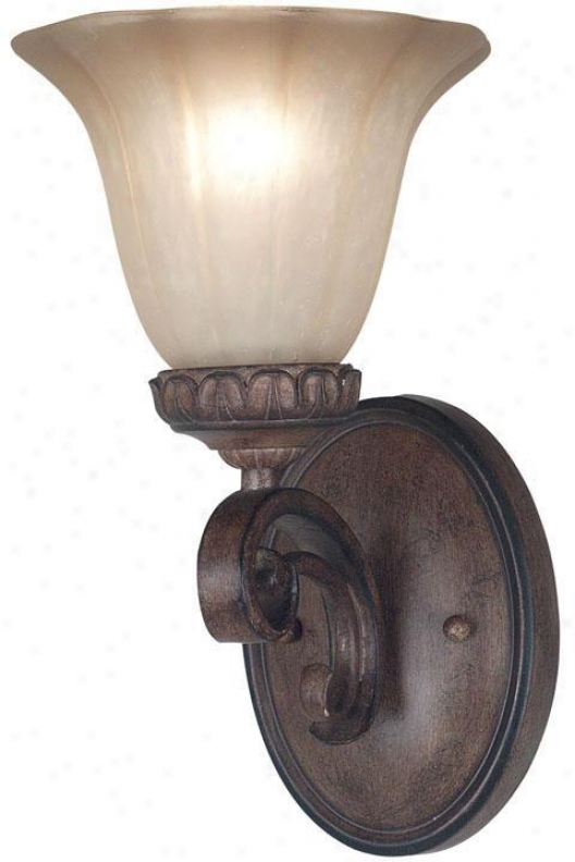 Rochester One-light Wall Sconce - Painted Amber, Copper Bronze