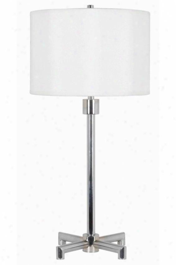 """rogue Table Lamp - 29""""h X 14""""w, Silver Chrome"""