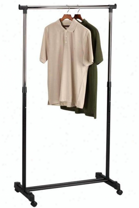 """rolling Garment Rack - 43""""-27""""hx34.5""""w, Silver Chrome"""