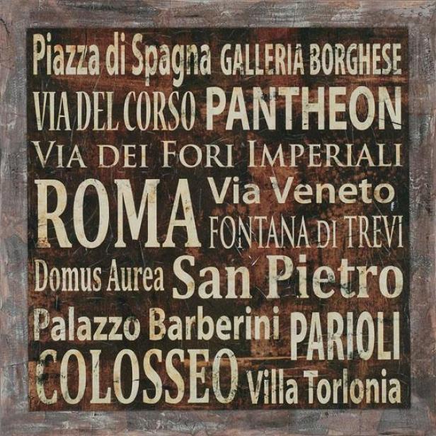 """""""roma Wall Art - 40""""""""hx40""""""""w, Coffee Brown"""""""