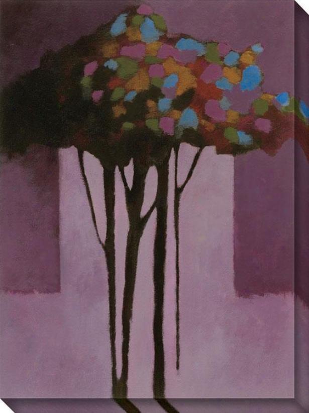 Romance Iv Canvas Wall Art - Iv/purple, Multi