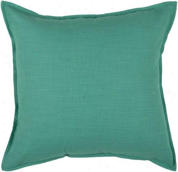 """romi Pillow - 18"""" Square, Turquoise"""
