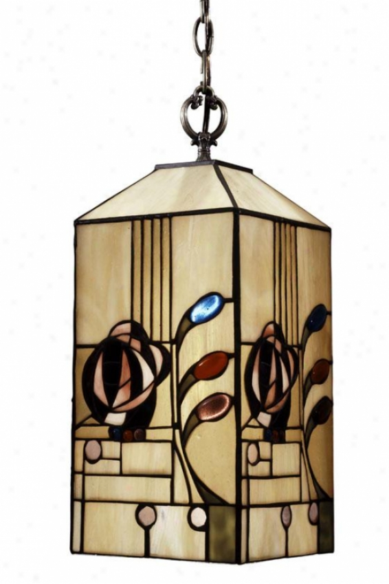 """rose Boudoir Mackintosh Hanging Fixture - 14h X 7""""d, Copper Assurance"""