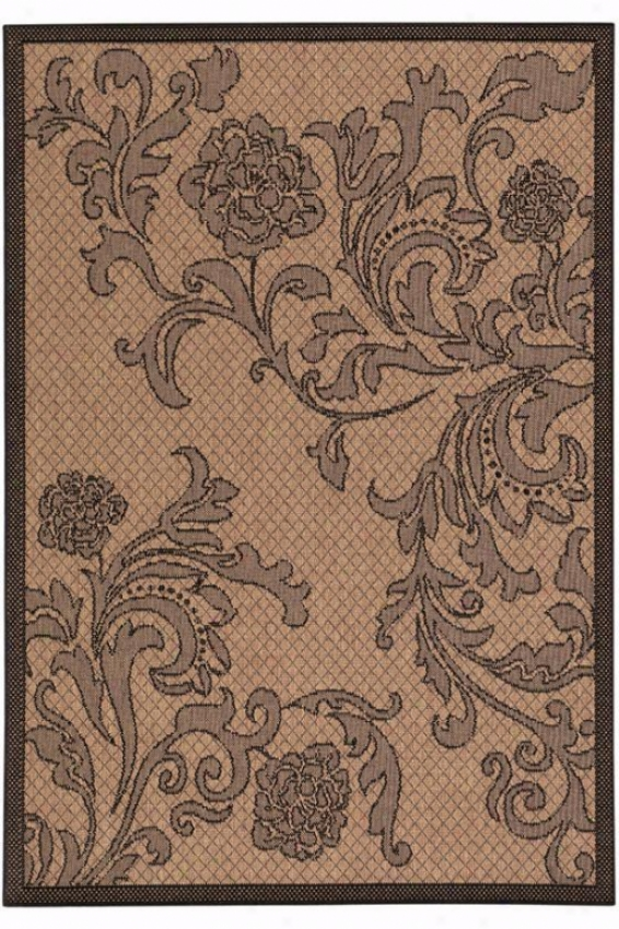 """rose Lattice Rug - 3'9""""x5'5"""", Chocolate Brown"""