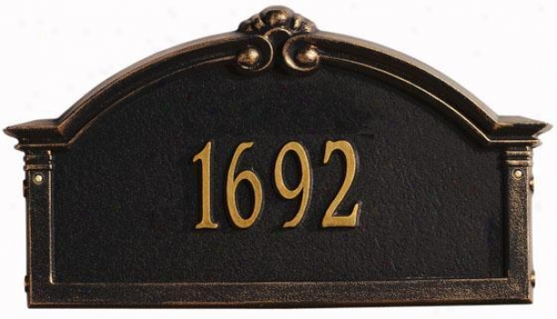 Roselyn One-line Standard Lawn Address Marker - Ensign 1 Line, Black