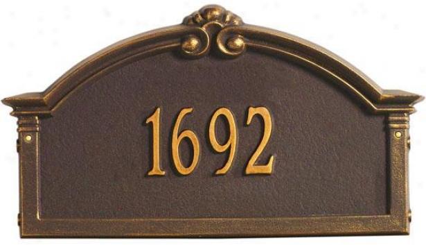 Roselyn One-line Standard Wall Address Marker - Standard 1 Line, Copper