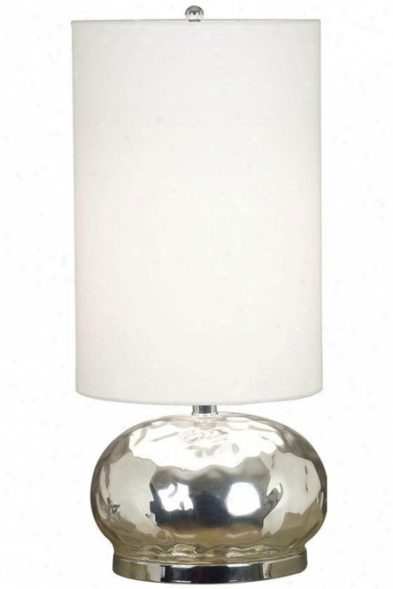 """roxie Table Lamp - 22""""h, Mercury Glass"""