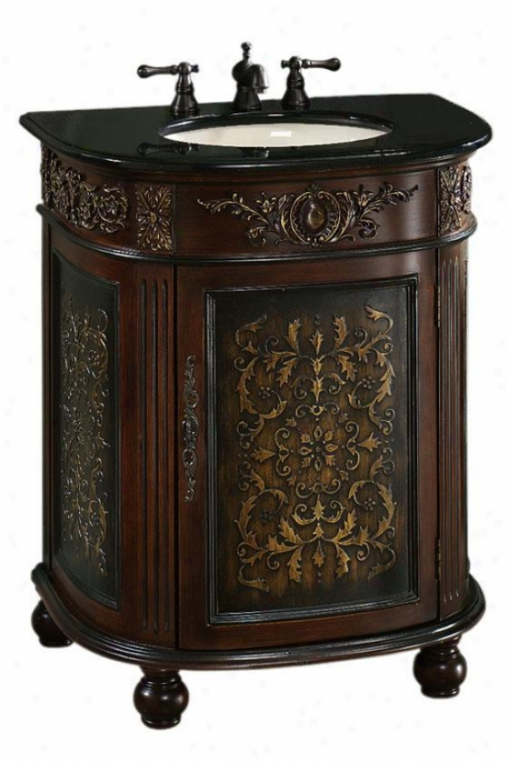 """Magnificent  30""""w Single Bathroom Vanity - 36.5""""hx30""""w, Coffee Brown"""