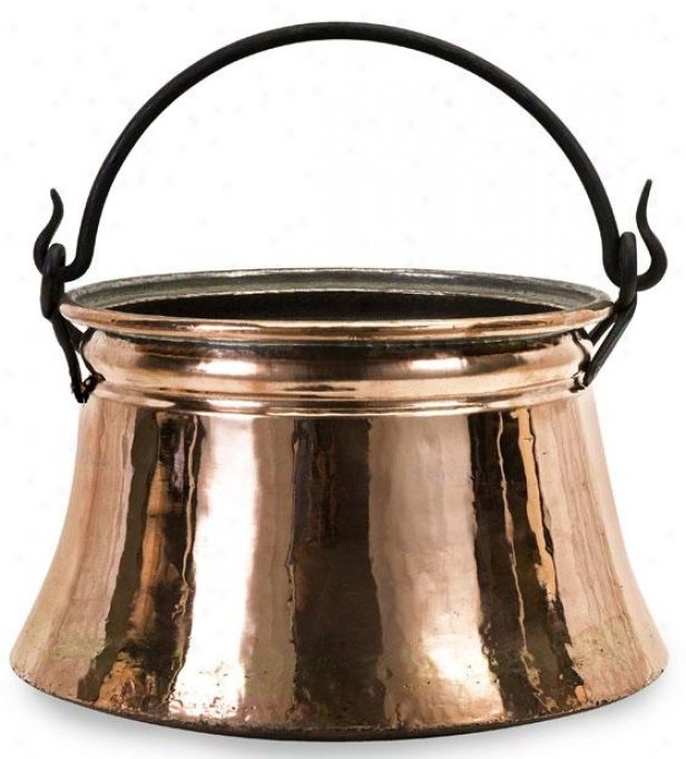 """rumeli Bucket - 9""""h X 12""""d, Copper"""