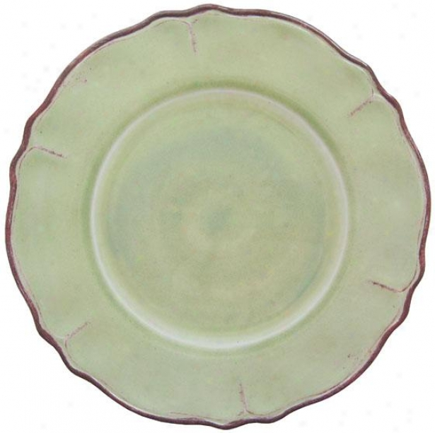 Rustica Dinner Plates - Set Of 4 - Ste Of Four, Sage