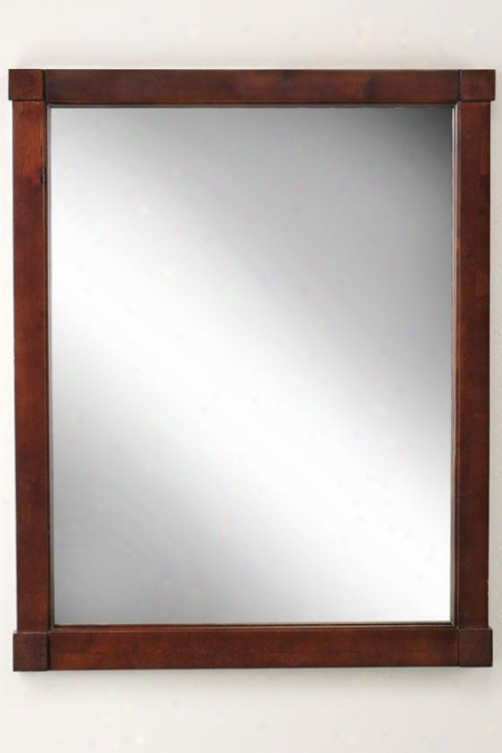 """ryan Mirror - 31""""hx25""""w, Brown Wood"""